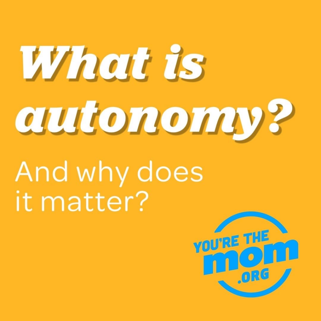 "Text on image says ""What is autonomy? and why does it matter?"" The image will link you to the blog post ""what is autonomy?"""